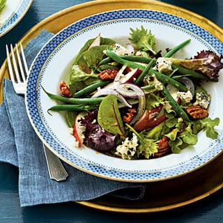 Fresh Pear-and-Green Bean Salad with Sorghum Vinaigrette