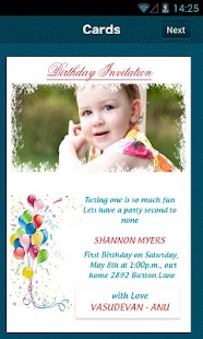 Create Birthday Invitation - screenshot thumbnail