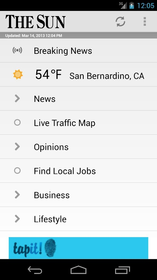 San Bernardino Sun - screenshot