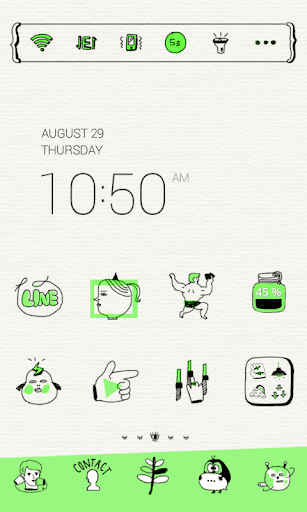 Neon Green Drawing Dodol Theme
