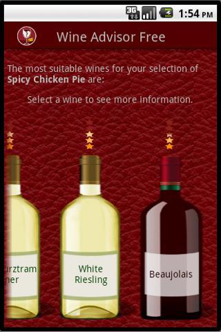 Wino the Wine Advisor (Free)– Capture d'écran