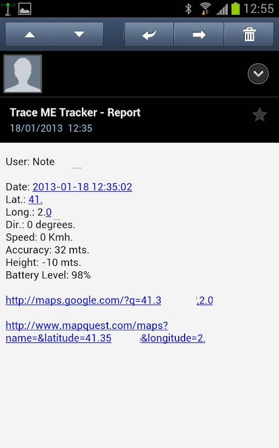 Rescue Trace Me oGTS Tracker - screenshot