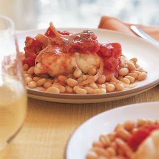 Monkfish with White Beans