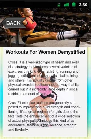 Workouts For Women Demystified