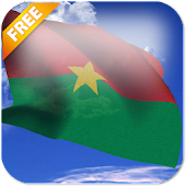 3D Burkina Faso Flag Live Wallpaper