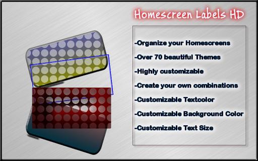Homescreen Labels HD
