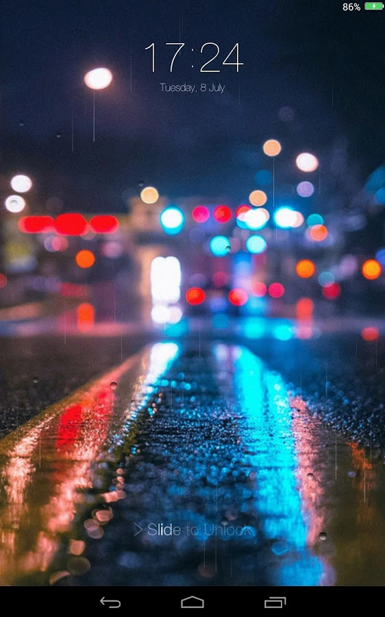 Rainy City Lock Screen- screenshot