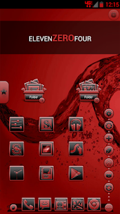 Serenity Launcher Theme Red - screenshot thumbnail