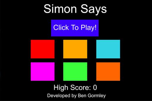 Simon Says Colour Vs Text