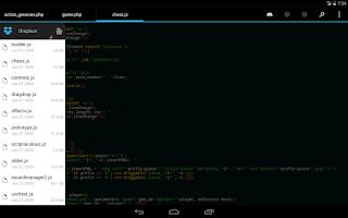 Screenshot of DroidEdit Pro (code editor)