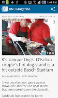 Screenshot of Belleville News Democrat News