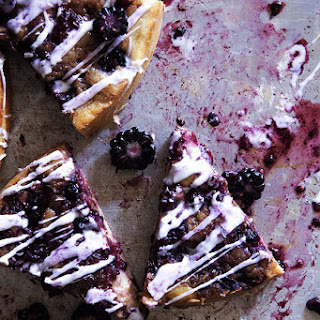 Blackberry Cinnamon Roll Cake