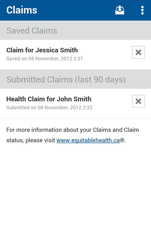 Equitable EZClaim Mobile - screenshot