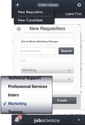 Jobscience Mobile Manager