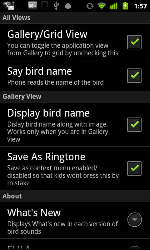 Bird Sounds & Ringtones - screenshot