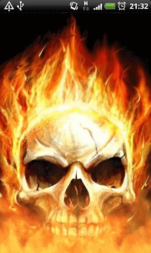 Skull Flames of Death LWP