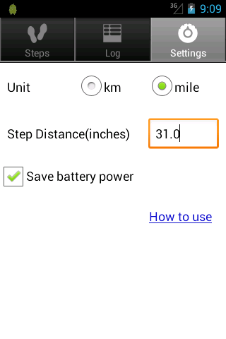 Walkroid - simple pedometer - screenshot