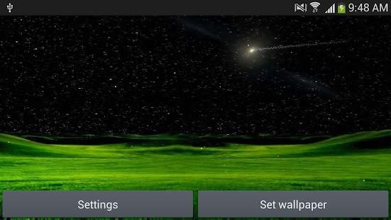Meteors star night wallpaper