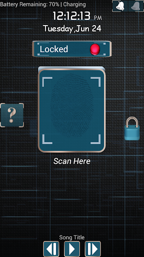 Finger Print Screen Lock