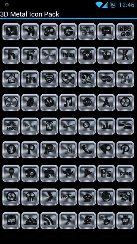 Metal (3D) - Icon Pack - screenshot