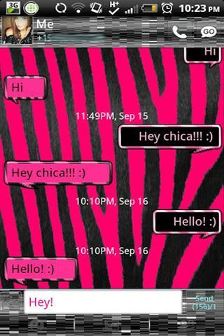 GO SMS - Pink Zebra