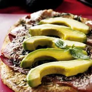 Avocado, Asiago and Prosciutto Pizza
