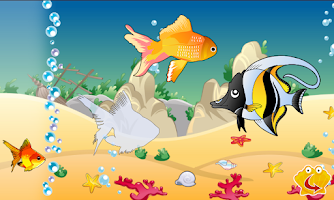 Screenshot of Toddler puzzle: Baby fishes