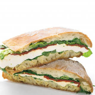Pressed Mozzarella and Tomato Sandwich.