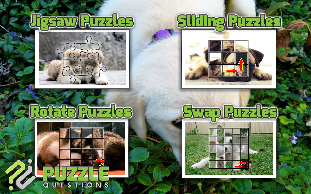 Free Cute Puppy Puzzle Games- screenshot