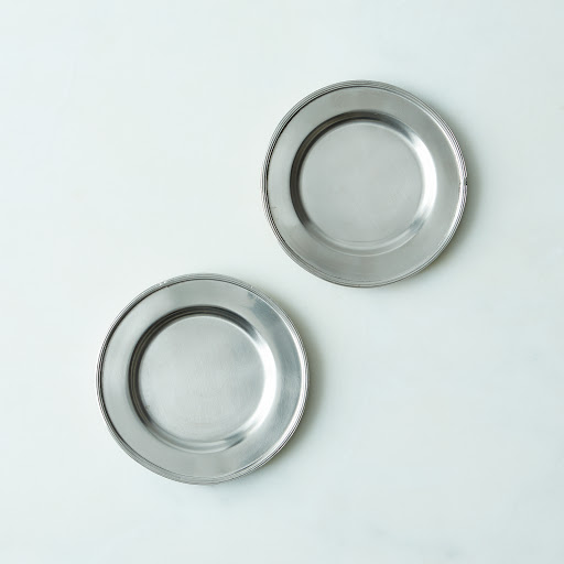 Small Pewter Plate (Set of 2)
