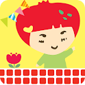 Happy Sunday cacao strawberry icon