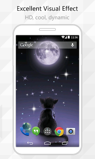 Star and Cat Live Wallpaper