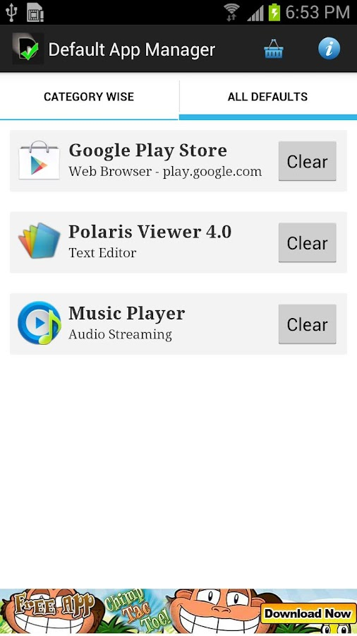 Default App Manager Lite - screenshot