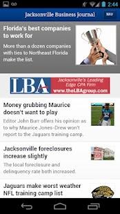 Jacksonville Business Journal- screenshot thumbnail