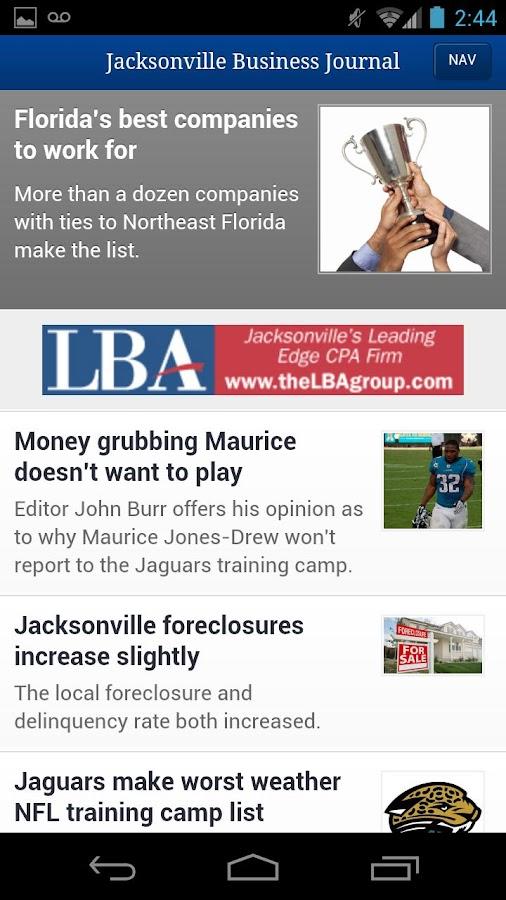 Jacksonville Business Journal- screenshot