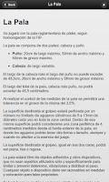 Screenshot of Reglamento de Padel