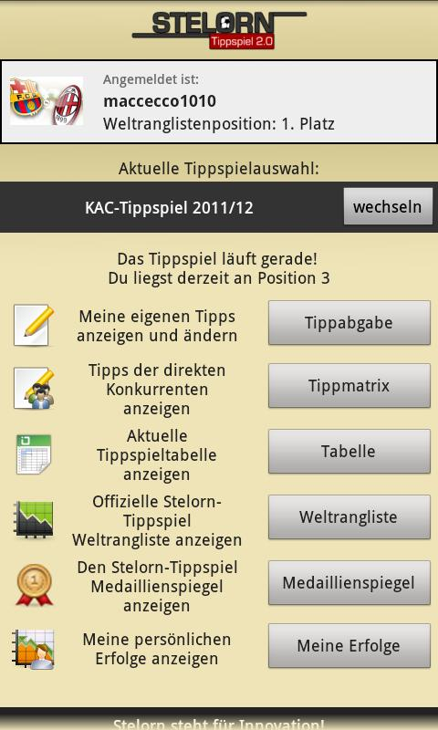 Stelorn Tippspiel- screenshot