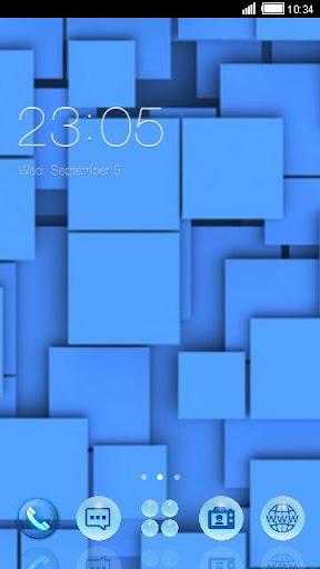 Blue Squares C Launcher Theme