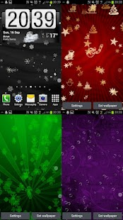 Snowflakes Live Wallpaper HD - screenshot thumbnail
