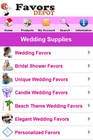 Wedding Favors Depot - screenshot