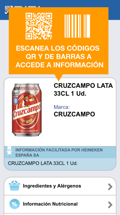 BIDI: lector QR y de barras - screenshot