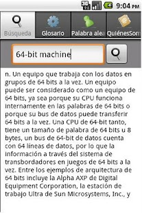 Spanish IT&Computer Dictionary - screenshot thumbnail