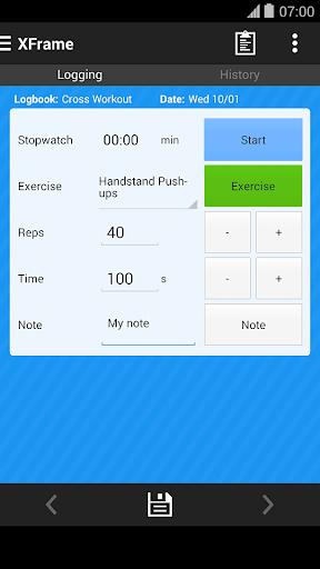 Cross Workout Log Tracker