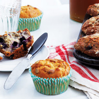 Blueberry Oat Muffins with Crumb Topping