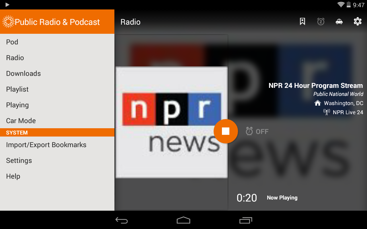 Public Radio & Podcast - screenshot