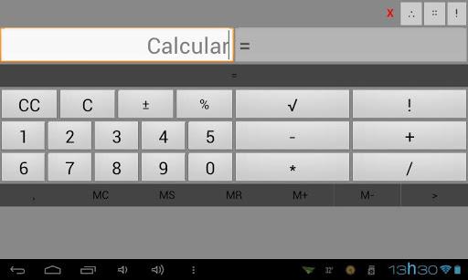 Calculadora a-b-c-x