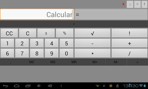 Calculadora a-b-c-x - screenshot thumbnail