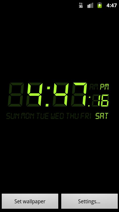 Alarm Clock Wallpaper (Android) reviews at Android Quality Index