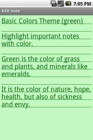 Basic Colors Theme- screenshot