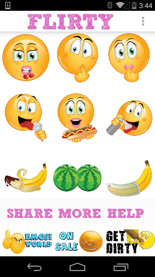 Flirty emojis by emoji world android apps on google play